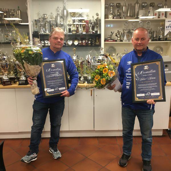 Utdeling av priser på Årsmøtet i VFK 11. mars 2021 –  Æresmedlemmer og Årets Klubbsjel