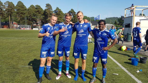 Målscorere Nyhus, Pedersen, Engesland pluss debutant fra start, Ishan Skårdal.