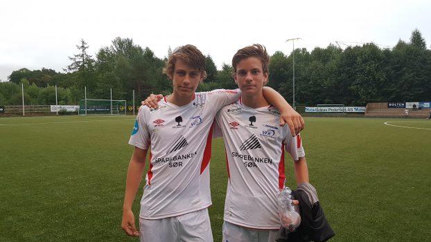 Marius Fjellet og debutant André Bakken
