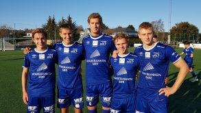 Næss, Pedersen, Aanonsen, Aslaksen og Nordhagen med hvert sitt mål