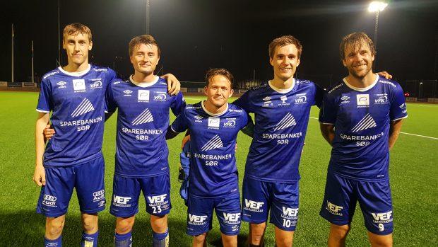 Mathias Gabrielsen Aas,Sander Barstad Bergan, Martin Gardiner,  Robert Våge Skårdal, Øyvind Løkkebø 'Gaus' Gausdal.