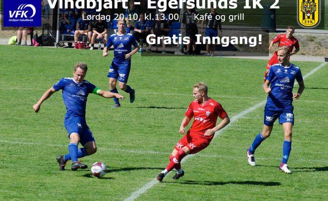 Før kampen VFK – Egersunds 2