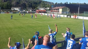 Trofaste VFK-supportere måtte se at Gaus sitt mål ble annullert.