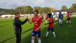 Daniel Goa med sitt første A-lags-mål mot Åssiden